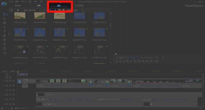 動画の出力