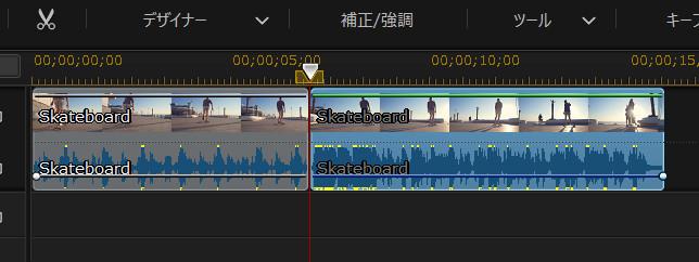 動画が2つに分割